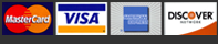 Visa, Master, American Express and Discover Cards