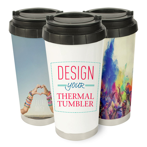 personalized stainless steel travel mugs custom photo thermos