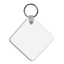 Key Chain, Square with ring & snap, 2.25""