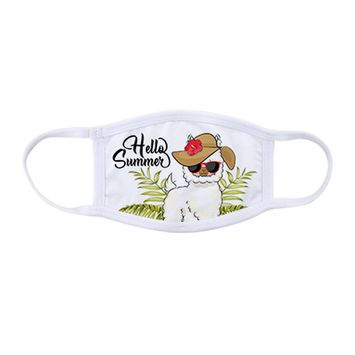 Personalized Face Mask - White