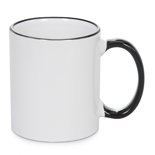 11 oz Rim & Handle Mug (Black)