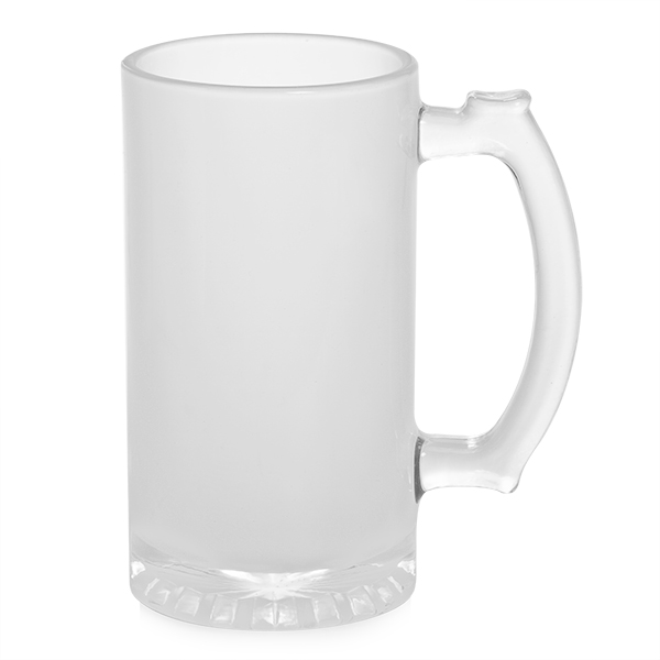 16 oz Frosted Glass Beer Stein