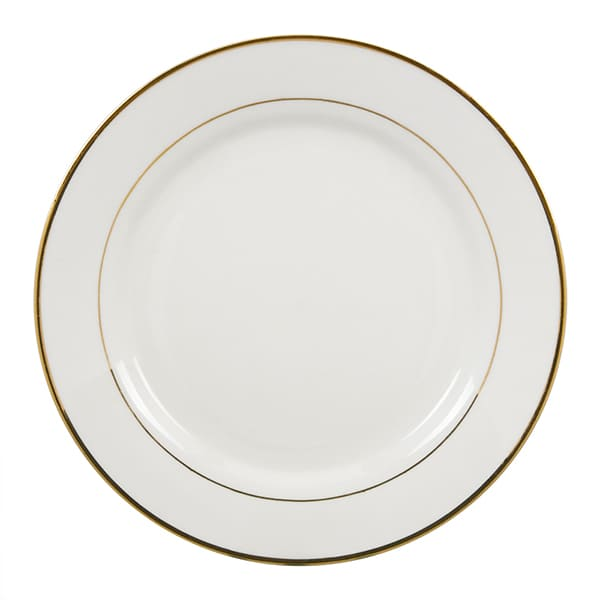 Plate with Gold Trim