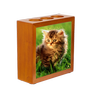 Wooden Pencil Holder w/ Photo Tile Inserts